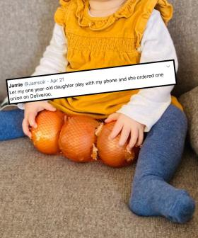 One-Year-Old Accidentally Buys Single Onions Over Deliveroo On Dad's Phone