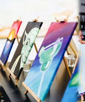 This Paint & Sip Studio Is Offering FREE Online Classes So You Can Get Creative In Self-Isolation