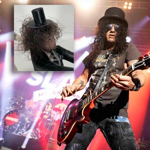 You Can Buy This Wedding Cake Topper Featuring Slash's Real Hair