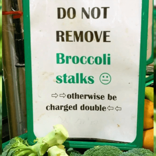A Supermarket Is Now Charging People DOUBLE For Vegetables If They Fool Around With It
