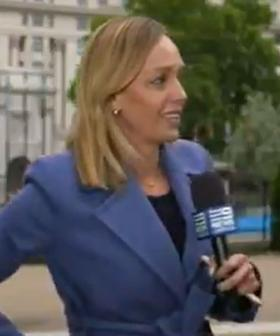 Aussie Reporter Has Terrifying Moment During Live Cross