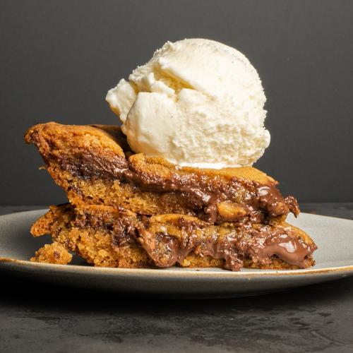 Messina's New Cookie Pie Is Stuffed With Gooey Chocolate & Hazelnut!
