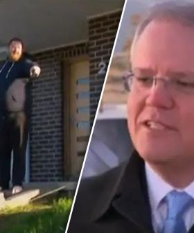 """""""Get Off The Grass!"""": PM's Press Conference Interrupted By Homeowner"""