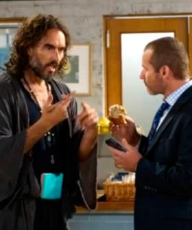 Russell Brand Made A Cameo Appearance On Neighbours And Toadie's Reaction Was Priceless!