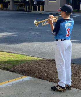 12-Year-Old Boy Plays Trumpet Every Night For Frontline Workers Outside Hospital