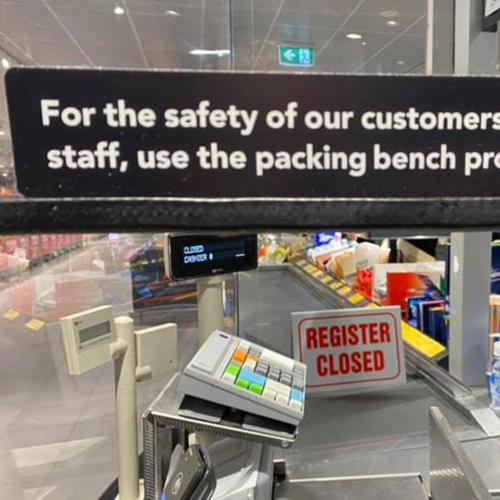 ALDI Shoppers Are Divided After A New Sign Goes Up At Checkout