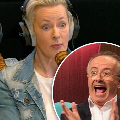 Amanda Keller Caught FARTING While Being Carried By Andrew Denton