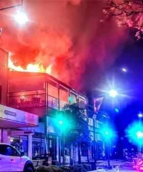 Firefighters Battle Blaze In Historical Sydney Building