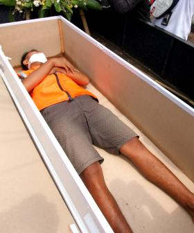 Not Wearing A Face Mask? You'll Be Forced To Spend Five Minutes In A COFFIN!