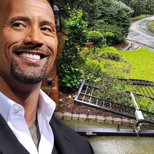'The Rock' Ripped His Steel Front Gate Off Its Hinges To Get To Work On Time