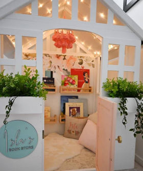 Mum Transforms Kmart Cubby House Into Beautiful 'Book Store' For Her Daughter