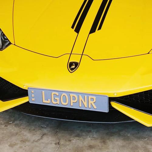 Sydney Barrister Defends His 'LGOPNR' Number Plate