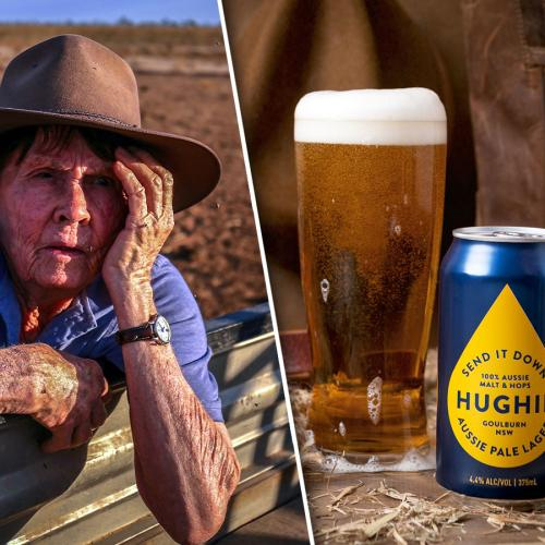 """Send It Down Hughie!"": New Beer Helps Raise Money And Equipment For Drought-Affected Farming Communities"