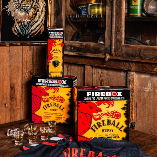 Fireball Whisky Is Selling A 3.5L Firebox For All Your Party Needs