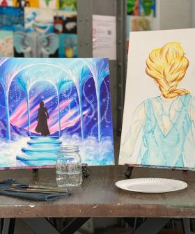 Cork and Canvas Are Hosting Frozen Themed BYO Wine Art Classes!
