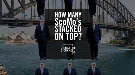 How many ScoMo's stacked on top?
