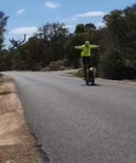 Australia Post Responds To Viral Video Of Post Officer Doing Wheelies