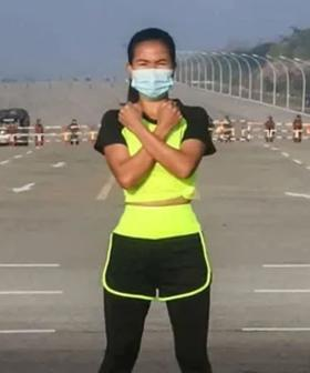 Woman Unknowingly Captures Myanmar Military Coup While Dancing