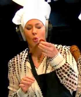 Amanda Keller Makes Us CHOCOLATE BACON Live On Air!