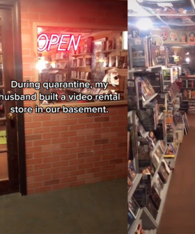 Man Turns His Basement Into A Vintage Video Store During Lockdown