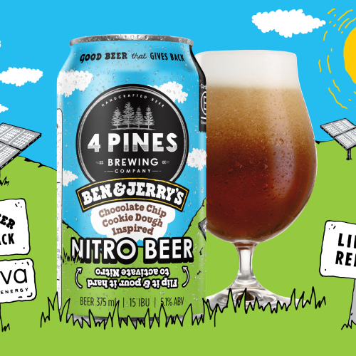 Ben & Jerry's And 4 Pines Release Chocolate Chip Cookie Dough Ice-Cream Flavoured Beer