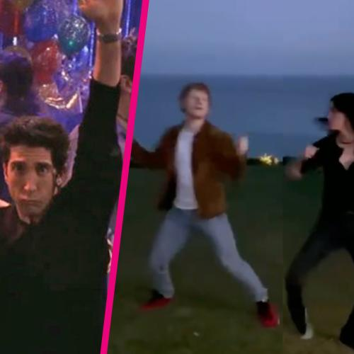 Courteney Cox And Ed Sheeran Just Recreated Ross And Monica's Famous Dance Routine