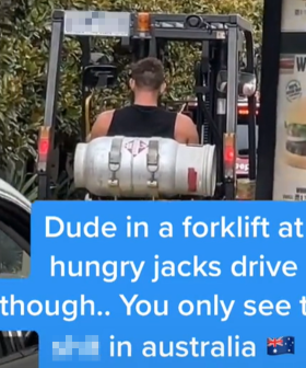 Bloke Spotted Driving Forklift In Hungry Jack's Drive-Thru