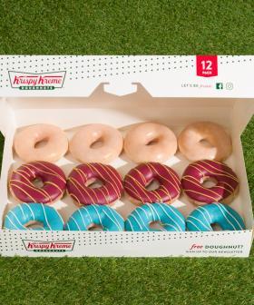 Krispy Kreme Is Doing State Of Origin Blues Vs. Maroons Doughnuts!