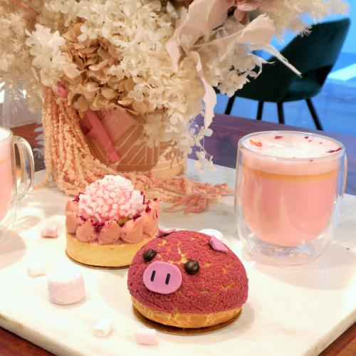 Doux Amour Are Doing Pink Lattes & Piggie Choux Pastry's For National Pink Day!
