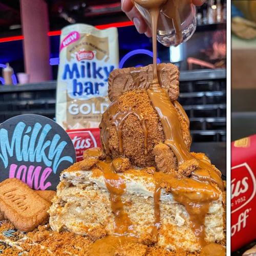 This Sydney Cafe Is Doing Milky Bar Gold & Biscoff Vanilla Slices And We're In LOVE!