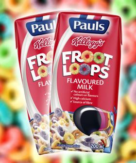 You Can Now Get Froot Loops Flavoured Milk And I Think We'll Stick With Chocolate