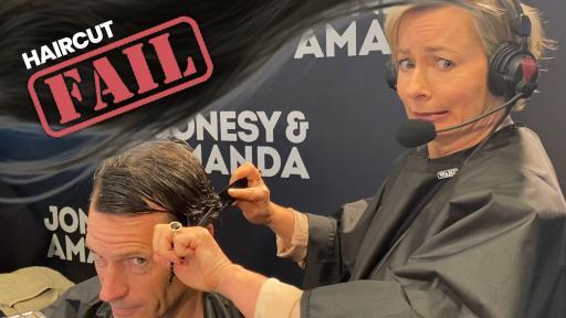 Amanda Keller Gives Jonesy A SHOCKING Haircut In Lockdown