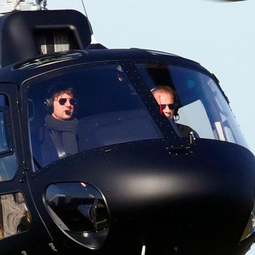 Tom Cruise Lands Helicopter In Family's Backyard And Offers Them A Ride