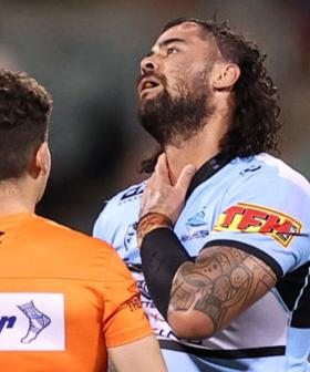 NRL's Andrew Fifita Placed In An Induced Coma After Severe Throat Injury