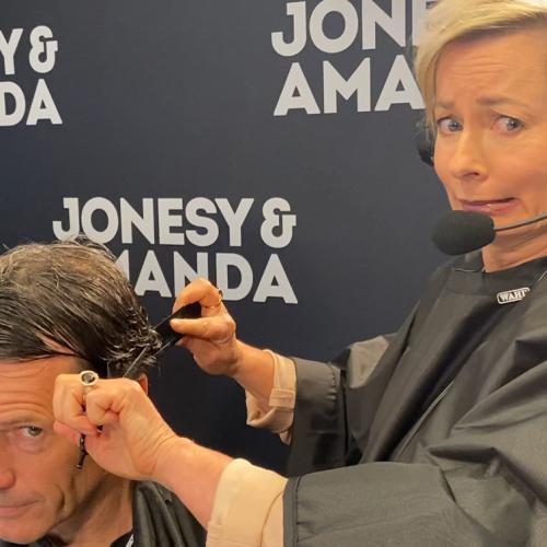 Amanda Keller Just BUTCHERED Jonesy's Hair LIVE On Air