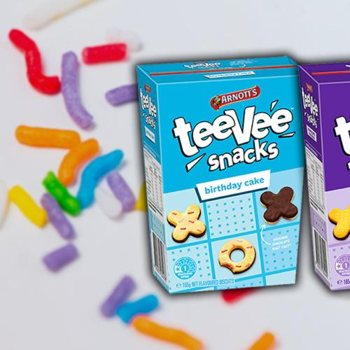 Arnott's Teevee Snacks Now Come In Birthday Cake And Honeycomb Chocolate Flavour