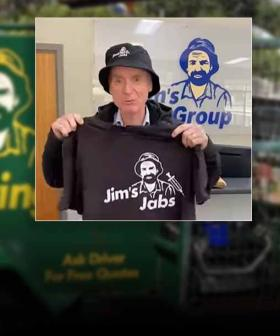 The Actual Jim From Jim's Mowing Is Now Flogging Free 'Jim's Jabs' Merch For The Fully-Vaxxed